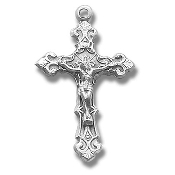 Rosary parts to make rosaries crucifixes-Sterling Silver Fancy Filigree Crucifix