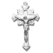 Rosary parts to make rosaries crucifixes rosary making supplies..Flare End Sterling Silver Crucifix