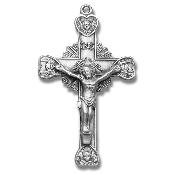 "Rosary parts to make rosaries Angel Sterling Silver Starburst Crucifix-Rosary Part 1 5/8"" x 1"""