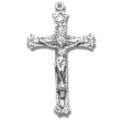"Rosary parts to make rosaries crucifixes rosary making supplies Rosary making parts Dazzling High Relief Crucifix Sterling Silver 1 7/8"" x 1 1/4"""
