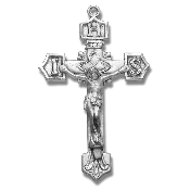 "Rosary parts to make rosaries crucifixes rosary Sterling Silver Crucifixes-IHS Catholic Crucifix Sterling Silver Rosary Part 1.7"" x 0.9"""