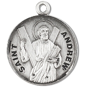 Saint Andrew Medal Sterling Silver Patron Catholic Charm