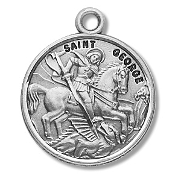 Saint George Medal Sterling Silver Patron Catholic Charm
