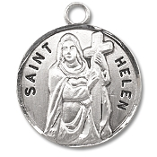 Saint Helen Medal Sterling Silver Patron Catholic Charm