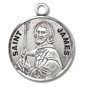 Saint James Medal Sterling Silver Patron Catholic Charm