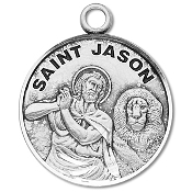 Saint Jason Medal Sterling Silver Patron Catholic Charm