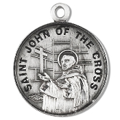 Saint John of the Cross Medal Sterling Silver Patron Catholic