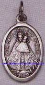 Olives Silver Oxidized Our Lady of the Olives Medal Charm