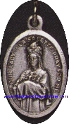 La Salette Silver Oxidized Our Lady of La Salette Charm