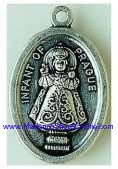 Infant of Prague Silver Oxidized Infant of Prague Pendant