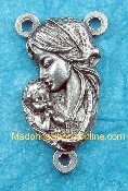 "10/Pc Deluxe Vintage style Madonna and Child 3/4"" Centerpieces-Genuine SILVER OXIDIZED Finish.. The silver oxidized finish has been perfected for hundreds of years by the local Italian craftsmen,"