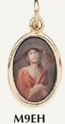 "ECCE HOMO Medal Gold Plated Color Picture 7/8"" oval Italy"