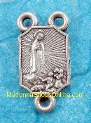 Our Lady of Fatima Tiny Center 1.0cm Silver Rosary Centers 25/Pc.Catholic Rosary Parts Centerpieces to make rosaries -Silver Oxidized-Premium Italian made Rosary Centerpieces ..These rosary center pieces are recognized for their traditional..