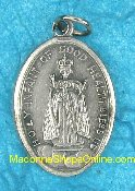 Infant of Good Health Pendant Charm Silver Medal