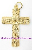 "6/Pc Holy Trinity Deluxe Genuine Gold Plated Crucifix 1 7/8"". The Gold Plated finish has been perfected for hundreds of years by the local Italian craftsmen, and remains unmatched in quality, beauty, and longevity throughout the world"