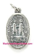 "St Cosmas and Damian Medal Silver Oxidized 1"" Styles Vary"