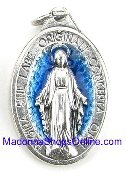 Beautiful and elegant-the words Ô Marie, conçue sans péché, priez pour nous qui avons recours à vous, in English O Mary, conceived without sin, pray for us who have recourse to thee. Holy Miraculous Medal Blue Enamel