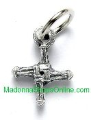 "St Bridgid's Cross medal Tiny-Great for watch, to make Bracelets, favors, Jewelry- H--1/2"" smallest Medals-Inexpensive rosary making parts-Bulk Tiny Cross of Saint Bridgid Saint Bracelet Crucifixes"