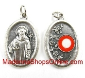 St Benedict Relic Medal 3rd class Silver Oxidized Medal