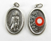 St Peregrine Relic Medal 3rd class Silver Oxidized Medal