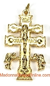 Exquisite Caravaca Cross Our Deluxe Crucifixes are known for the most Beautiful intricate designs for Charms, Necklace-Includes jump ring-Pendant-Italy-Cruz De Cavavaca- Crucifix to make rosaries Catholic Cross Cross 24KT GOLD PALTED metal