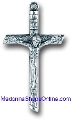 "Unique Log Style cross Silver Oxidized Crucifix 1 5/8"" x1"" Italy"