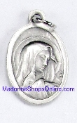 "Tears LIMITED Our Lady of Tears Medal 1"" Italy Silver Oxidized"