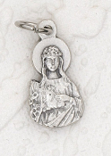 Tiny Saint Philomena Charm Silver Bracelet Parts 1.7cm
