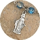 Tiny Lady of Grace Charm Silver Oxidized Parts 2.3cm- Made in Italy Inexpensive Catholic medals Bracelet medals-