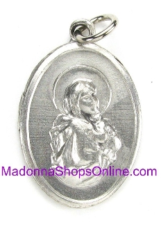 Madonna of the Streets Silver Oxidized Charm