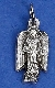TINY Archangel Gabriel medals Silver Pendant Italy 2.3cm