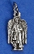 TINY Archangel Uriel medals Silver Pendant Italy 2.3cm