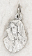 Tiny Lady of Sorrows Charm Silver Bracelet Parts 1.7cm