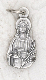rosary charms Tiny Saint Lucy Charm Silver Bracelet Parts 1.7cm Italy
