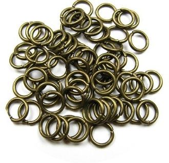 Jump Ring BRONZE 7mm x 1.0mm Bulk Packed $2.50/100pcs