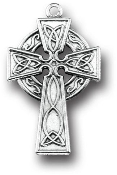 "25/Pk Genuine Silver Oxidized Celtic Cross 1 1/4"" x 3/4"" Italy..Premium Italian made Crosses Genuine SILVER OXIDIZED Finish Rosary parts, Necklace etc Includes Attach Jump Ring"