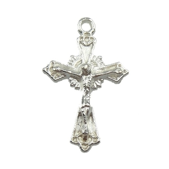 Tiny Brilliant Silver Plated Crucifix Cross Bracelet 1.9cm