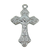 "Tiny Silver Plated Crucifix Bracelet Part 7/8""x 5/8"""
