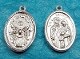 "Holy Spirit/Holy Family Medal Deluxe Silver Plated 1"" oval"