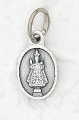 Tiny Oval IOP medal Infant of Prague Charm ITALY 1/2""
