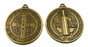 "LARGE Saint Benedict Jubilee BRONZE Finish Medal 1 3/4"" ROUND"