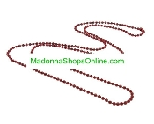 "Red 24"" Ball Chain Bead 2mm Catholic Medals-Crucifixes"