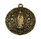 "Our Lady of Guadalupe Large Medal Bronze Finish 1 5/8"" Round-Our Deluxe Guadalupe Medals are known for the most Beautiful intricate designs. Oval Guadalupe medal -Bronze Finish, a medal coated with an old-fashioned heirloom finish."