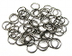 Heavy Jump Ring BLACK SILVER Finish 100pcs 10mm x 1.2mm Bulk