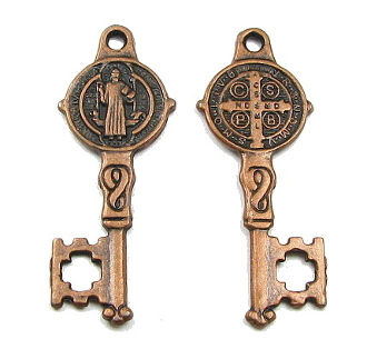 "Saint Benedict Key COPPER FINISH -1 1/8"" Key of Heaven"