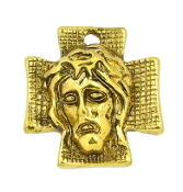 Gold Antique Finish Ecce Homo Holy Face Thorns Charm 7/8""