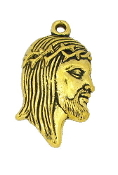 "Antique Gold Finish Ecce Homo Holy Thorns Charm 7/8"" Italy as low as $0.39 each"