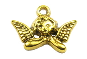 3D Antique Gold Finish Angel Charm 1.9 x 1.1cm Medal