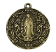 "Our Lady of Guadalupe Medal Bronze Finish 1"" Round"