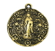"Our Lady of Guadalupe Medal Antique Gold Finish 1"" Round"